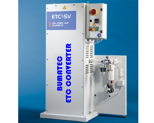 Pneumatic systems without oil etc